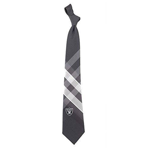 NFL Oakland Raiders Men's Woven Polyester Grid Necktie, One Size, Multicolor