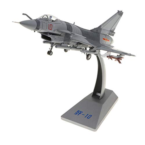 Flameer 1:60 Scale China 1:60 J-10 Firebird Fighter Helicopter Model - Diecast Model Army Plane Toy Decor Ornament ()