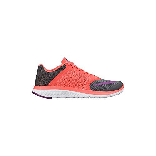 Nike Fs Lite Run 2 - Zapatillas de running Mujer Dark Grey/Hyper Orange/White/Vivid Purple