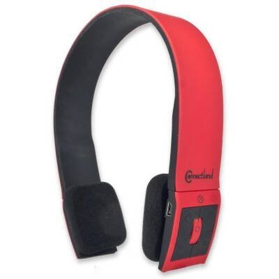 - SYBA CL-AUD23030 Bluetooth v2.1 EDR Stereo Headset with Microphone Sleek and Modern Edge Design Color Red/Black
