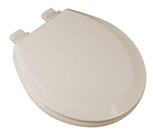 Bath Décor 1F1R7-01 Premium Molded Wood Round Toilet Seat with Slow Close Hinge & OSG, - Bone Water Closet