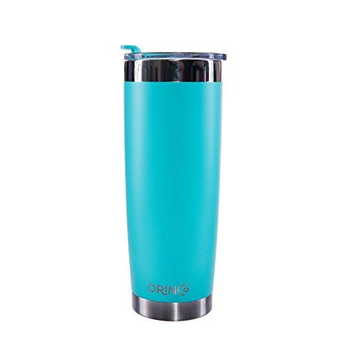 Drinco - Stainless Steel Tumbler | Double Walled Vacuum Insulated Mug With Spill Proof Lid For Hot & Cold Drinks | Aqua | Perfect for Hiking, Camping & Traveling | - Proof Cup Spill Insulated