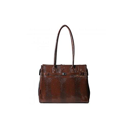 - Bark-n-Bag Exotic Line Patent Croco Pet Carrier, Brown