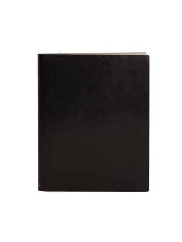 Recycled Leather - Paperthinks Black Extra Large Ruled Recycled Leather Notebook, 7 x 9-inches