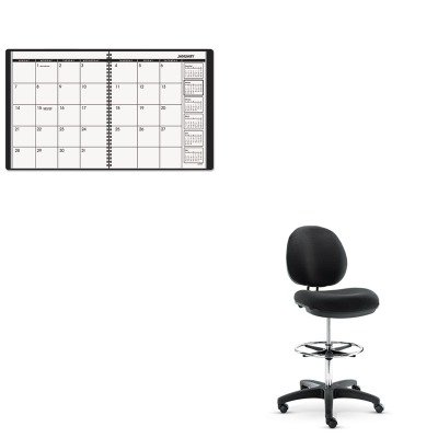 KITAAG7026005ALEIN4616 - Value Kit - Best Interval Series Swivel Task Stool (ALEIN4616) and At-a-Glance Recycled Monthly Planner (AAG7026005) by Best