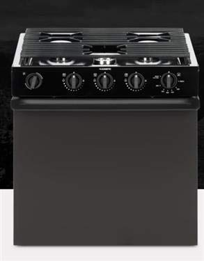 Atwood Mobile Products 52232 Wedgewood Black 21 Ups Piezo Oven Range 3 Burner