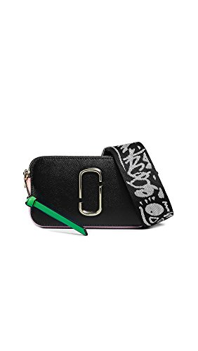 Marc Jacobs Women's Snapshot Camera Bag, Black/Baby Pink, One Size ()