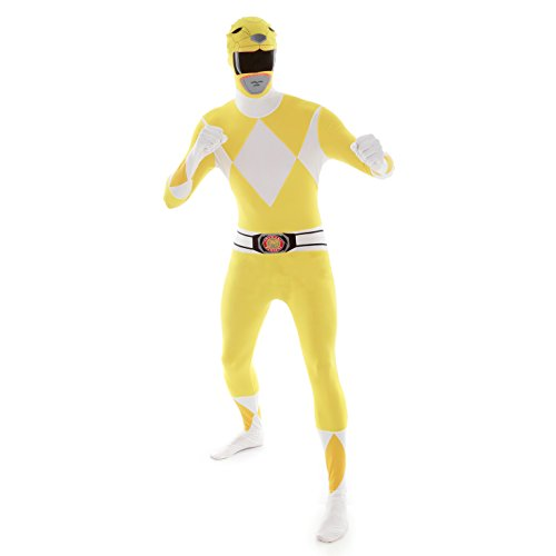 Official Power Ranger Morphsuit Costume,Yellow,Large 5'4