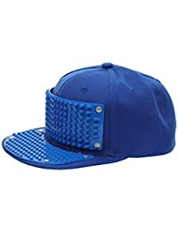 Bricky Blocks Blue Snapback Hat for Kids and Adults