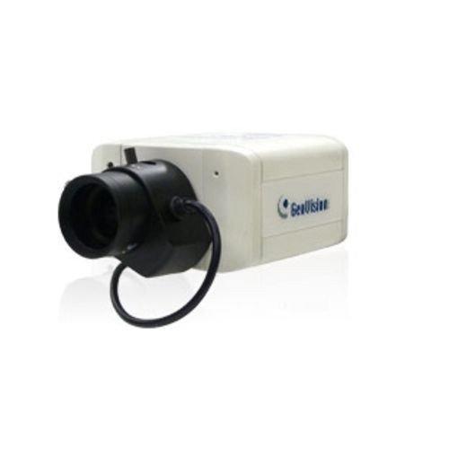 GEOVISION GV-BX1500-3V Geovision 2.8 to 12mm Varifocal 30 fps @ 1280 x 1024 Indoor Day/Night WDR Box IP Security Camera 12VDC / 84-BX1500V-301U /