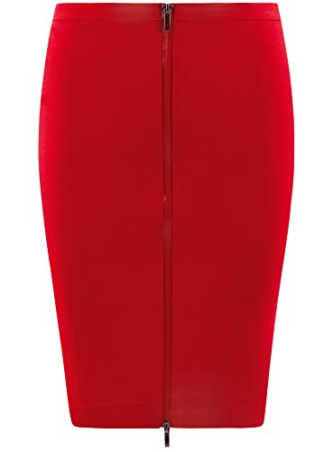 Gonna Donna Collection Davanti Maglia 4500n sul Zip oodji con Rosso in OExq7dw