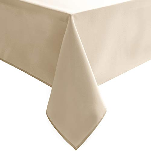Hiasan Rectangle Tablecloth – Waterproof and Spillproof Washable Fabric Table Cloth for Dining Room Kitchen and Outdoor…