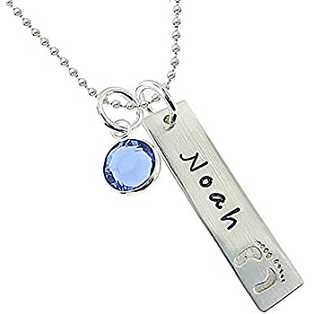 fbfc9960e My Tiny Prints Personalized Sterling Silver Name Necklace. Customize with Child's  Name, Engraved with