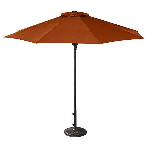 Island Umbrella NU5419TC Cabo Market Umbrella, 9-ft, Terra Cotta Olefin
