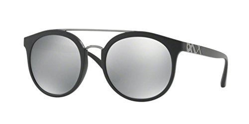 Burberry  Men's 0BE4245 Matte Black/Silver Mirror One - Round Sunglasses Burberry