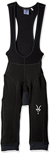 Ibex Outdoor Clothing Men's Merino Wool 3/4 Bib Knicker, Black, (Bib Knickers)