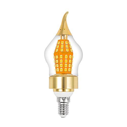ELEOPTION E12 Base Clear Candelabra Base Led Bulbs, 15W Candelabra Light Bulbs Daylight Non-dimmable Decorative Candle Light Bulb for Home Lighting (6, Warm White 3000K) by Eleoption