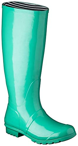 Women's Classic Knee High Rain Boot from Target (9, Mint)