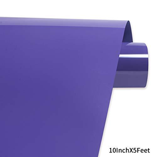 Purple Heat Transfer Vinyl,PU HTV Heat Transfer Iron on Vinyl Heat Transfer Vinyl Roll for DIY T-Shirts 、Idea Fabrics 0.8x5ft (25x152cm)