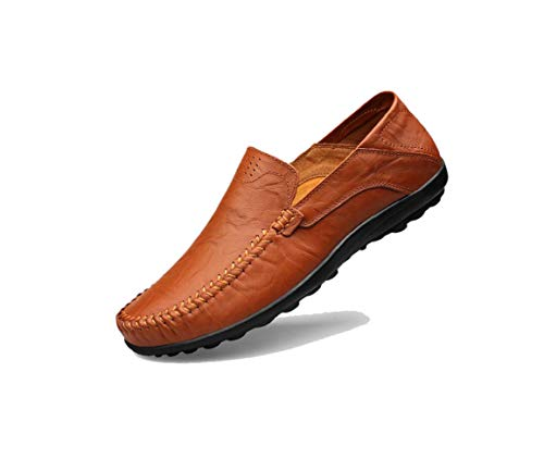 Punta Colore Tela da Casual Scarpe Uomo Brown Ribbon Round Business Sport Primavera A Autunno Inverno zmlsc Soft Estate HqBpWayy