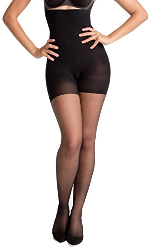 Tights Spanx Nylon - SPANX Womens Luxe Leg 15 Denier High-Waisted Sheers - Very Black - Large
