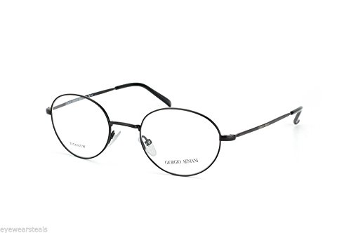 giorgio-armani-ga808-color-003-black-titanium-round-eyeglasses-48mm-20mm-145mm-new