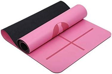 Yoga mat ヨガボディアレンジメントラインフィットネスマットレザーラバーアンチスキッド保護の高度な印刷健康ヨガ環境に優しいノンスリップヨガピラティスフロア workout