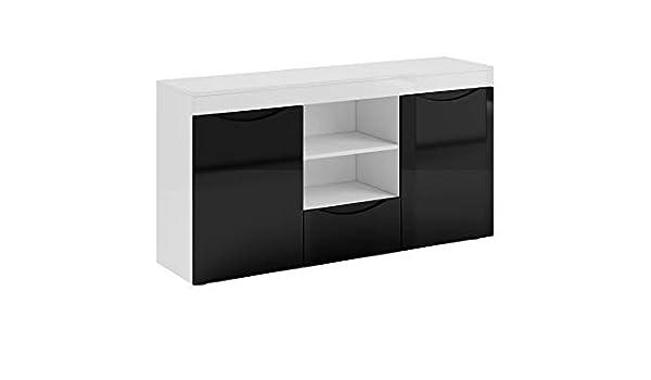 muebles bonitos - Aparador Modelo Nalak Color Blanco y Negro ...