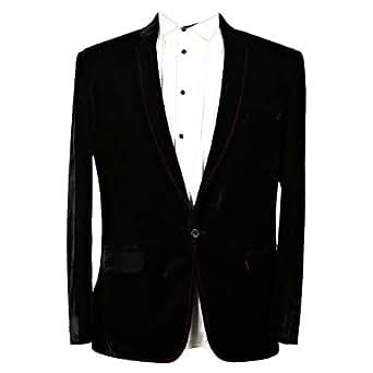 Libas Riyaz Gangji Black Velvet Blazer For Men