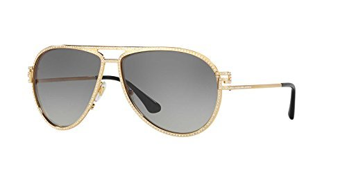 a1c2a11c362d Image Unavailable. Image not available for. Color  Versace Women s VE2171B  Sunglasses Gold Gray Gradient 62mm