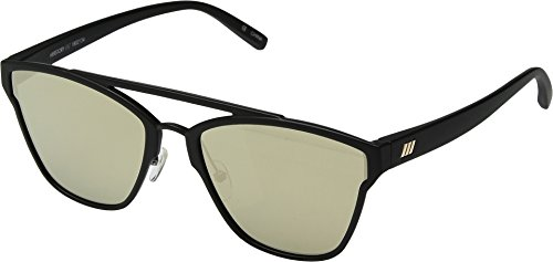 Le Specs Unisex Herstory Black Rubber/Gold Revo One - Le Sunnies Specs