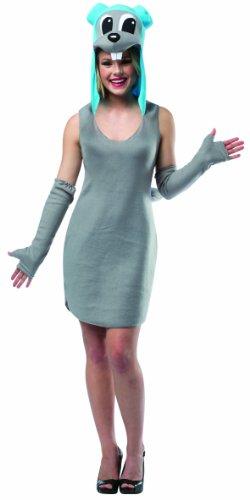 [Rasta Imposta Women's Dreamworks Rocky Dress, Gray/Blue, One Size] (Rocky Bullwinkle Costume)
