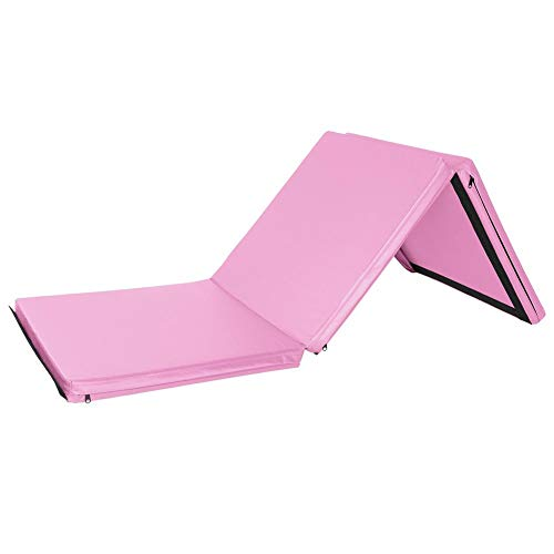 Lijuan Qin 6'x2'x2 Thick Tri-Fold Folding Exercise Mat with Carrying Handles, Aerobics Yoga Workout Tumbling Mats for Gymnastics, Aerobics, Yoga, Martial Arts