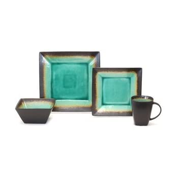 Amazon.com | Baum Galaxy Jade 16-pc. Dinnerware Set: Dinnerware Sets