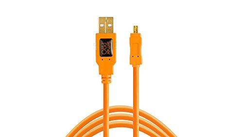 TetherPro USB 2.0 A Male to Mini-B 8 Pin, 15 feet (4.6m), Orange
