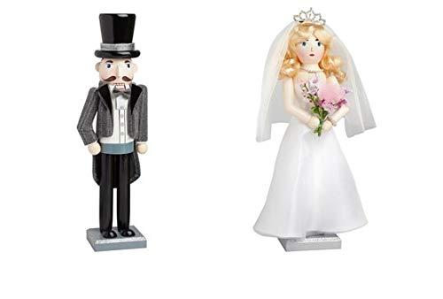 """Wers Bride & Groom Nutcracker, 15"""" Bride with Flowers Nutcracker and 15"""" Tuxedo Groom Nutcracker, Nutcracker 2 Pack"""