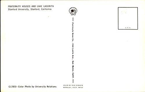 Amazon com: Fraternity Houses And Lake Lagunita, Stanford