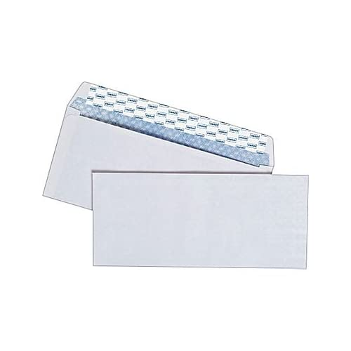 Staples Easy Close No. 10 Security-Tint Envelopes, 4-1/8 x 9-1/2 inches, Box of 100