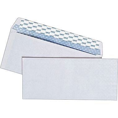 No 10 Envelope Size (Staples Easy Close No. 10 Security-Tint Envelopes, 4-1/8 x 9-1/2 inches, Box of)