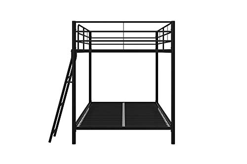 DHP Junior Twin, Low Bed for Kids, Black Bunk