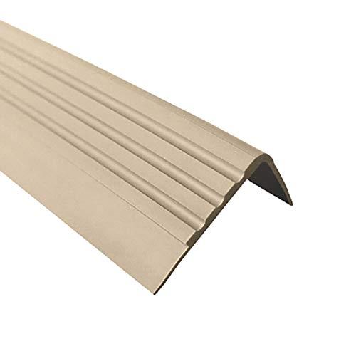 Antideslizante Perfil para cantos de escaleras Escaleras /ángulo perfil PVC Goma RM 1.5/metros 30/x 27/mm