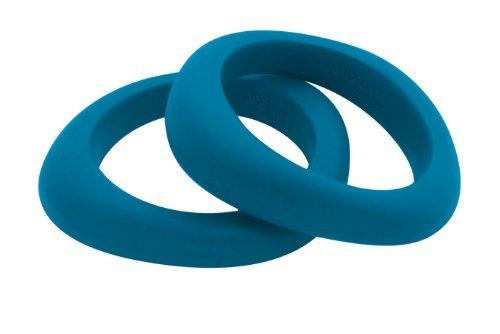 Jellystone Organic shaped teething bangle - Teal Coloured by Jellystone Designs by Jellystone Designs