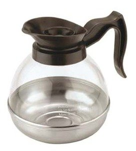 Black Coffee 64 Oz Decanter (Tea Coffee Decanter Serving Pot 64oz Black #PLCK064)