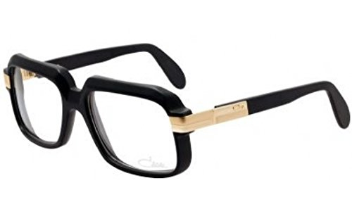 16d2cc923f4 Cazal 607 011 Matte Black Gold Eyeglasses 56 mm