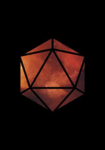 RPG Journal: Blank college ruled notebook for role playing gamers: Galaxy polyhedral die design