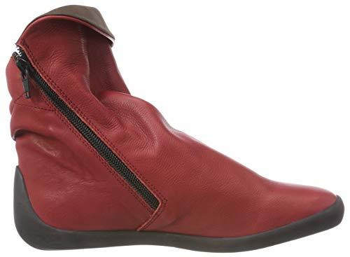 Nat332sof Pour Bottines Softinos rouge De 025 Femmes Brun Rouges RHFggvn