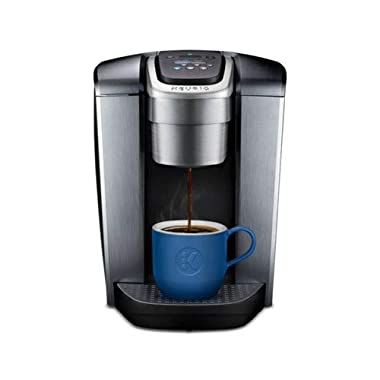 Keurig K-Elite Single Serve K-Cup Pod Maker with with Strength and Temperature Control, Iced Coffee Capability, 12oz Brew Size, Brushed Silver