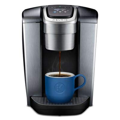 Keurig K-Elite Single Serve K-Cup Pod Coffee Maker, with Strong Temperature Control, Iced Coffee Capability, 12oz Brew Size, Programmable, Brushed Silver (Ice Elite)