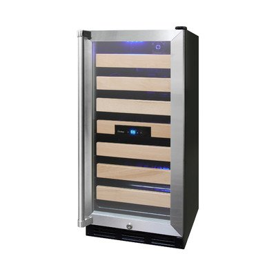 Vinotemp VNTVT-26SB-ID 26-Bottle Wine Cooler with Interior Display