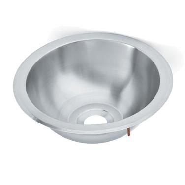 Vollrath Drop-In Sink, (1) compartment, round with contoured sides, 10-3/4